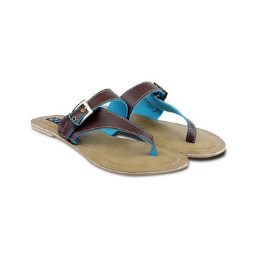 Ten Faux Leather Flat For Women_tenbl191 - Brown