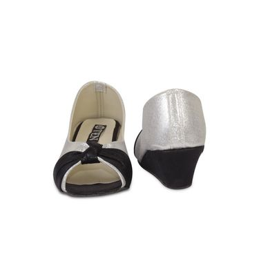 Ten Synthetic Wedges For Women_tenbl210 - Silver