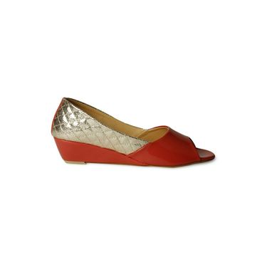 Ten Patent Leather Wedges For Women_tenbl218 - Orange