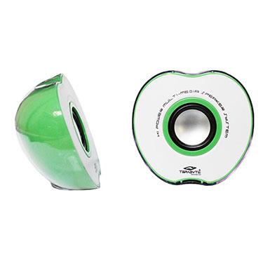 Terabyte TB-017G Apple Shaped Portable USB Speakers - Green & White
