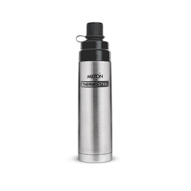 Milton Thermosteel Eva 500 Flask, 500ml-plain steel color FG-TMS-FIS-0048