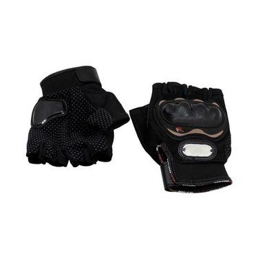 Studds Marshall Helmet With Gloves - Open Face Helmet Matte Black L