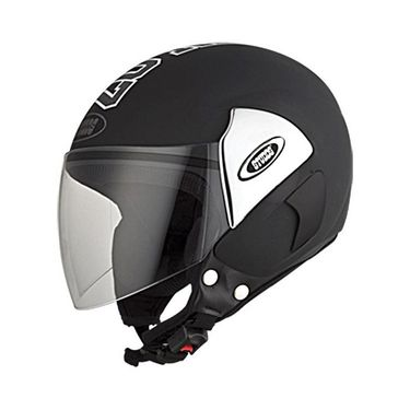 Studds - Open Face Helmet - Cub 07 Decor (Black) [Large - 58 cms]