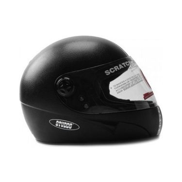 Studds - Full Face Helmet - Chrome (Black Plain) [Large - 58 cms]