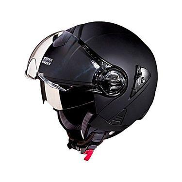 Studds - Open Face Helmet - Downtown (Matte Black) [Large - 58 cms]