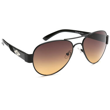 Alee Metal Oval Unisex Sunglasses_159 - Brown
