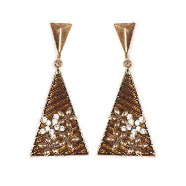 Urthn Fashion Triangle Earrings - Golden - 1301703