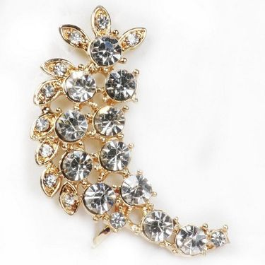 Urthn Austrian Diamond Single Ear Cuff - White _ 1302507