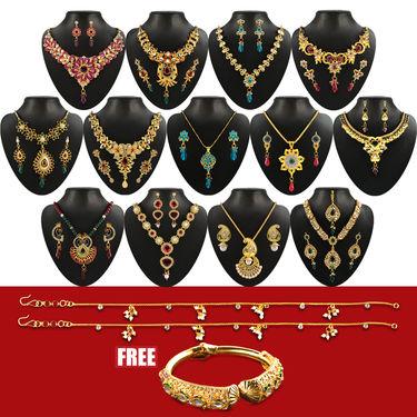 Utsav 1 Gram Gold Plated 13 Jewellery Set
