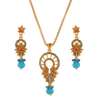 Variation Blue Diamond Pendant Set_Vd11652