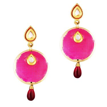 Variation Pink Gold Plated Dangle & Drop Earring_Vd13927