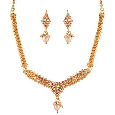 Variation White Beads Fashion Necklace Set_Vd15380