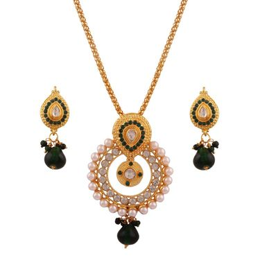 Combo of 4 Chain Pendant Sets + 6 Chain Pendent Sets + 1 Pearl Mala + 1 Pair Earring_Vd16514