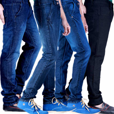 Velgo Club Pack of 4 Plain Regular Fit Jeans_NPG-JEN-9-19-29-30