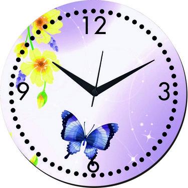 meSleep Butterfly Digital Printed Wall Clock-WC-R-01-55