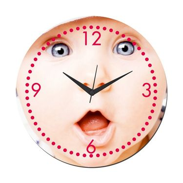 meSleep Baby Wall Clock With Glass Top-WCGL-01-16