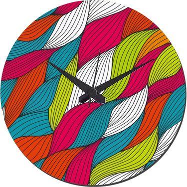 meSleep Multi Waves Wall Clock With Glass Top-WCGL-02-22