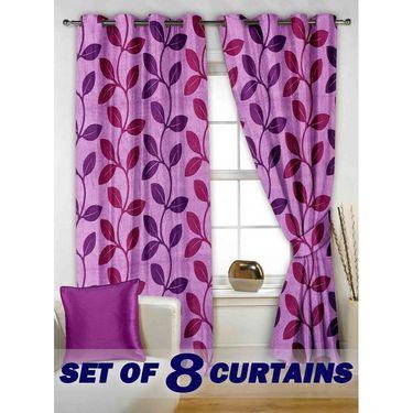 Set of 8 Printed  Window curtain-5 feet-WNR_4_2003