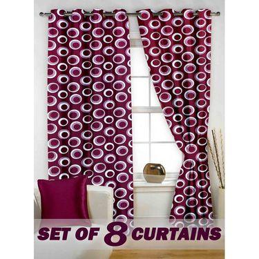 Set of 8 Printed  Window curtain-5 feet-WNR_4_2022