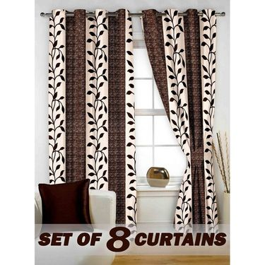 Set of 8 Printed  Window curtain-5 feet-WNR_4_2025