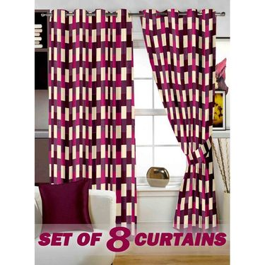 Set of 8 Printed  Window curtain-5 feet-WNR_4_3049