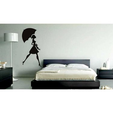 Girl Decorative Wall Sticker-WS-08-002