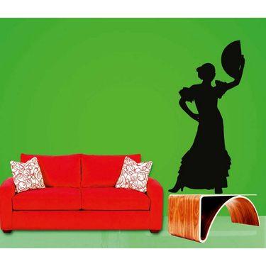 Dancing Lady Decorative Wall Sticker-WS-08-018