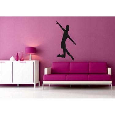 Dancing Girl Decorative Wall Sticker-WS-08-057