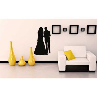 Wedding Couple Decorative Wall Sticker-WS-08-060