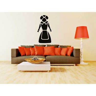 Black Women Decorative Wall Sticker-WS-08-080