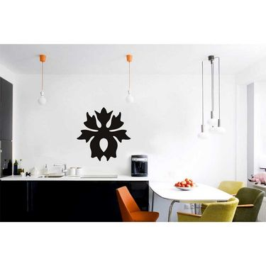 Black Floral Decorative Wall Sticker-WS-08-086