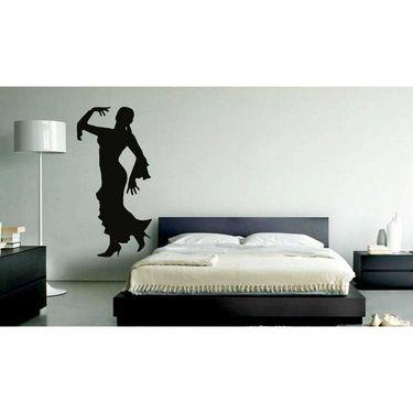 Dancing Lady Decorative Wall Sticker-WS-08-119