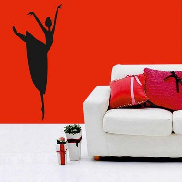 Dancing Girl Decorative Wall Sticker-WS-08-166