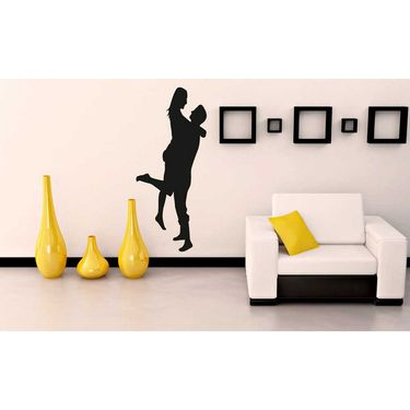 Black Couple Decorative Wall Sticker-WS-08-205