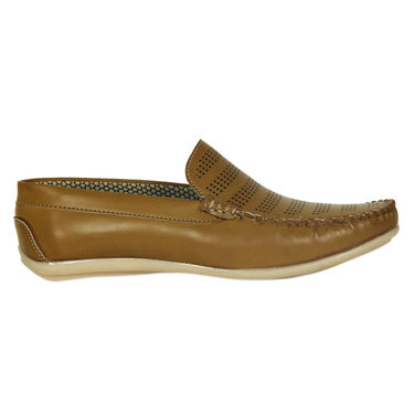 Yellow Tree Faux Leather Tan Loafers Shoes -os08