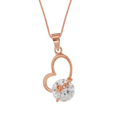 Spargz Heart Love Pendant With CZ Stone_Aip074