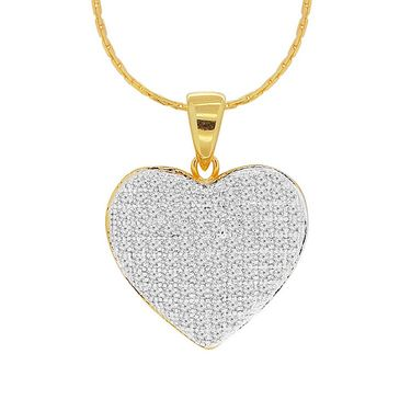Spargz Heart Design Pendant With CZ Stone_Aip081