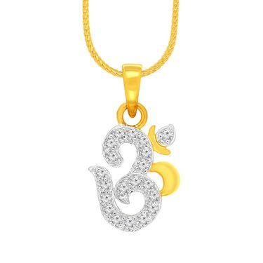Spargz Om Design Pendant With CZ Stone_Aip082