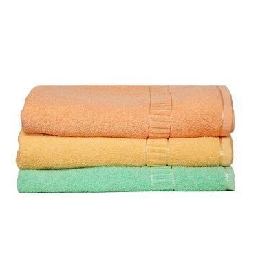 Banarsi Das Set of 3 Pure Cotton Bath Towels-bdt004