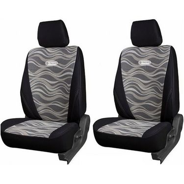 Branded Printed Car Seat Cover for Fiat Grande Punto - Black