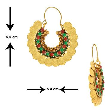 Spargz Combo of 4 Pair Intecrated Design Earring_Cb331
