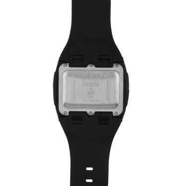 Fluid Digital Square Dial Watch For Unisex_d01bl01 - Black & Blue