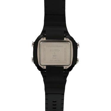 Fluid Digital Square Dial Watch For Unisex_d02or01 - Black & Orange