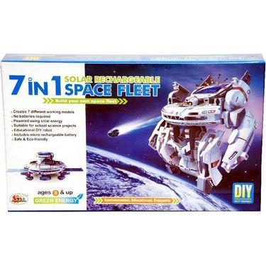 7 in 1 Solar Powered Educational Space Fleet  Robot Kit