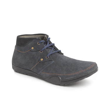 Foot n Style Suede leather Boots  FS132 - Grey