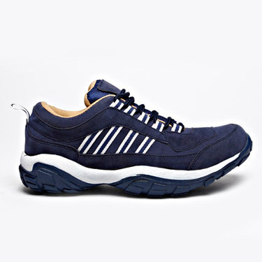 Foot n Style Suede leather Casual Shoes  FS204 - Navy Blue