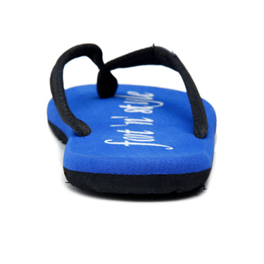 Foot n Style Fabric Slippers  FS127 - Black & Blue