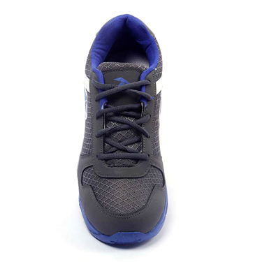 Foot n Style Synthetic  leather Sports Shoes  FS431 - Grey & Blue