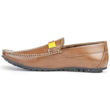 Foot n Style Leather Brown Loafers Shoes -fs3008