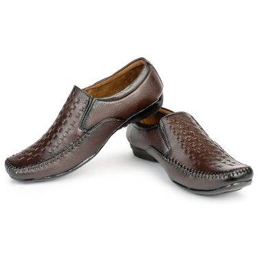 Foot n Style Leather Brown Formal Shoes -fs3016